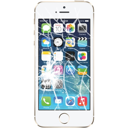 cracked iphone 5s screen iphone 5s broken screen repair brokenwecanfixit 13902